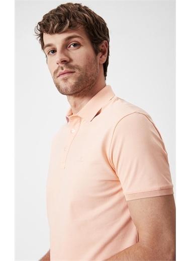 Boris Becker Kontrast Yaka T-shirt Oranj